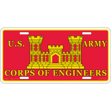 License Plate - Army Corp of Engineers
