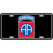 License Plate - Army 82nd A/B