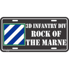 License Plate - Army 3rd Inf Div