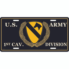 License Plate - Army 1st Cav Div