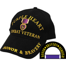 Purple Heart Combat Vet Hat