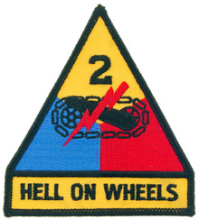 "Patch - 2nd Arm Div (3-3/4"")"