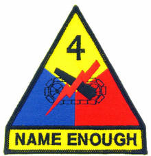 "Patch - 4th Arm Div (3-3/4"")"