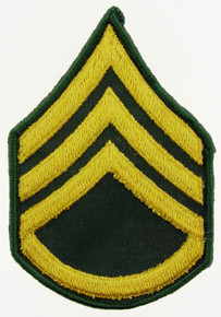 "Patch - Army, E6 Staff Sgt (3"")"