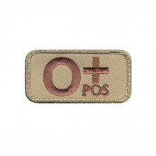 "Velcro Patch - O Positive Blood Type (2"" x 1"")"