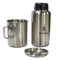 Pathfinder Stainless Steel Bottle & Nesting Cup Set
