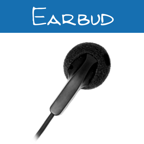 3.5mm Earbud Listen Only Earpieces