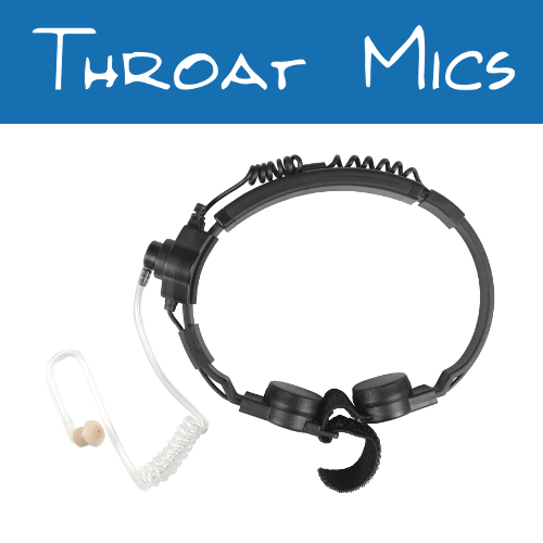 Motorola 2-Pin Radio Throat Mics
