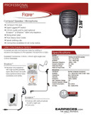 OEM® 2-Way FLARE Compact Speaker Microphone for APX4000 APX6000 APX7000