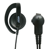 ARC G32 G-Hook Ear Speaker with PTT for Motorola 2-Pin Radios CP200 BC130 BC95