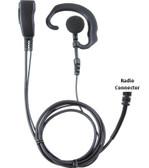 Pryme PRO-GRADE Earhook Lapel Mic for HYT 2-Pin TC508 TC610 TC580 Radios