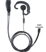 Pryme PRO-GRADE Earhook Lapel Mic for Kenwood 2-Pin TK and ProTalk Radios