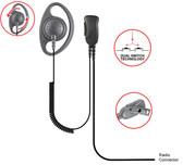 Pryme DEFENDER-D Ring Loop Earpiece for Kenwood NexEdge and TK Multi-Pin Radios