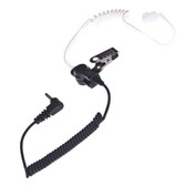 "Impact Platinum Series 2.5mm Listen Only Earpiece with Acoustic Tube (Short 9"")"