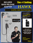 Hawk Lapel Microphone with Quick Release for Harris M/A-Com MRK Radios
