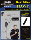 Hawk Lapel Microphone with Quick Release for Icom Multi-Pin Police Radios