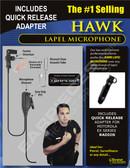 Hawk Lapel Microphone with Quick Release for Motorola EX500 EX600 EX560 Radios