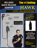 Hawk Lapel Microphone with Quick Release for Motorola SABER Series Radios