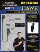 Hawk Lapel Microphone with Quick Release for Vertex VX600 VX800 VX900