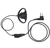 IMPACT D-Ring Earhanger Earpiece for Kenwood 2-Pin TK and ProTalk Radios