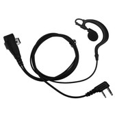IMPACT 1-Wire Rubber Earhook Earpiece for Kenwood 2-Pin TK and ProTalk Radios
