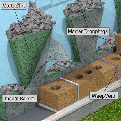 """2"""" Mortar Net with Insect Barrier"""