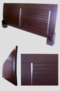 Magari Platform Headboard - Dark Walnut