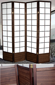 4 PANEL 79inH DOUBLE-SIDED TRADITIONAL  SCREEN