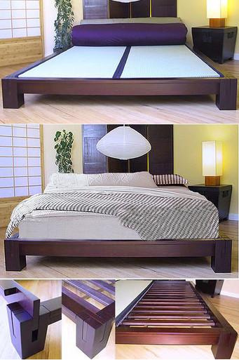 Tatami Platform Bed Dark Walnut Tatamiroom Com