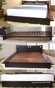 Zen Platform Bed - Dark Walnut