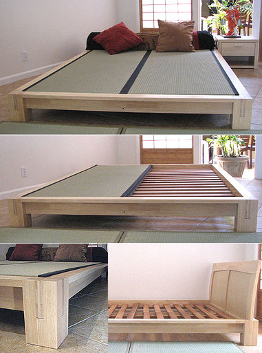 Tatami Platform Bed Natural Finish Tatamiroom Com