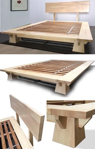Wakayama Platform Bed Natural Finish Tatamiroom Com