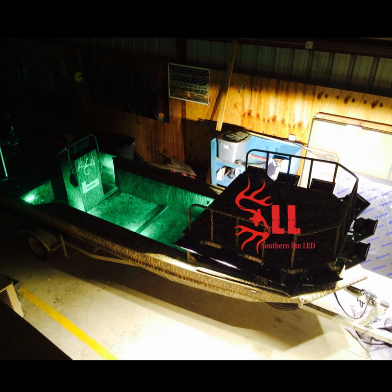 Duck Boat Interior Tough Led Lights Kick Lights No Strip