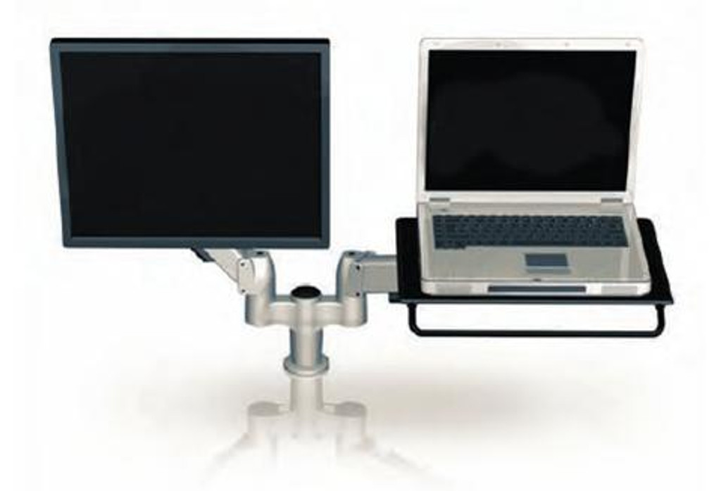 SpaceArm-Dual Monitor Arm Laptop Platform