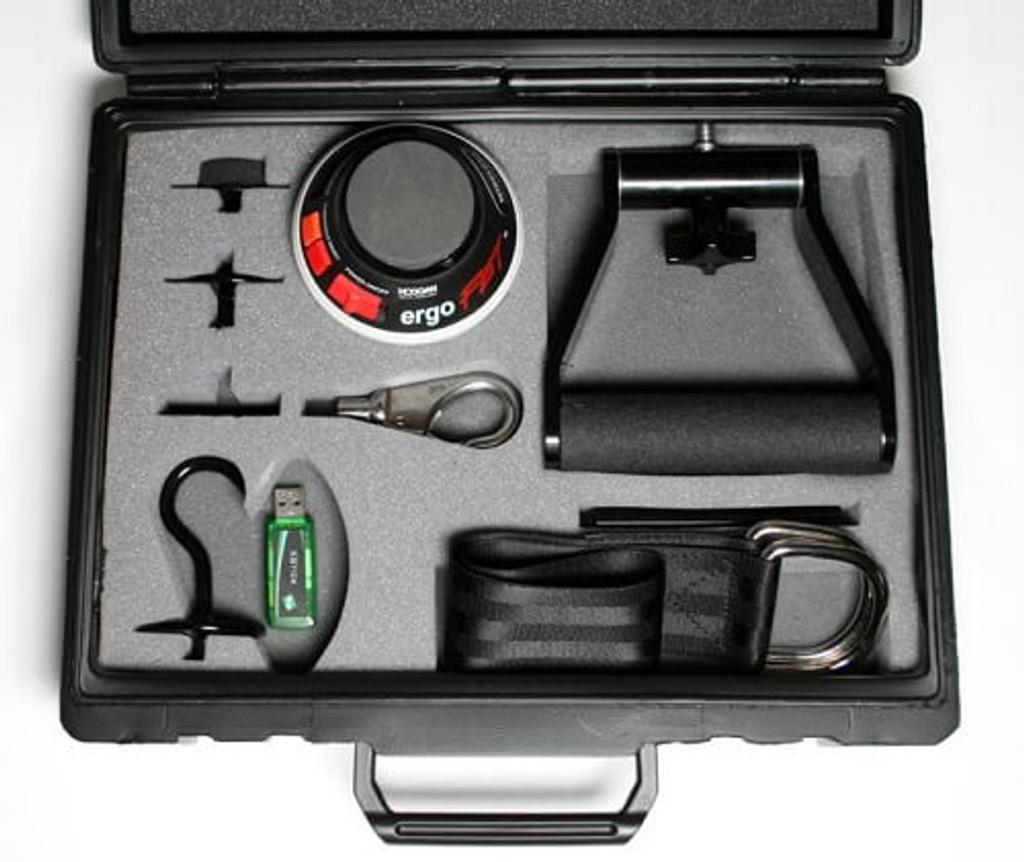 Ergofet 300 lb push pull force gauge complete case