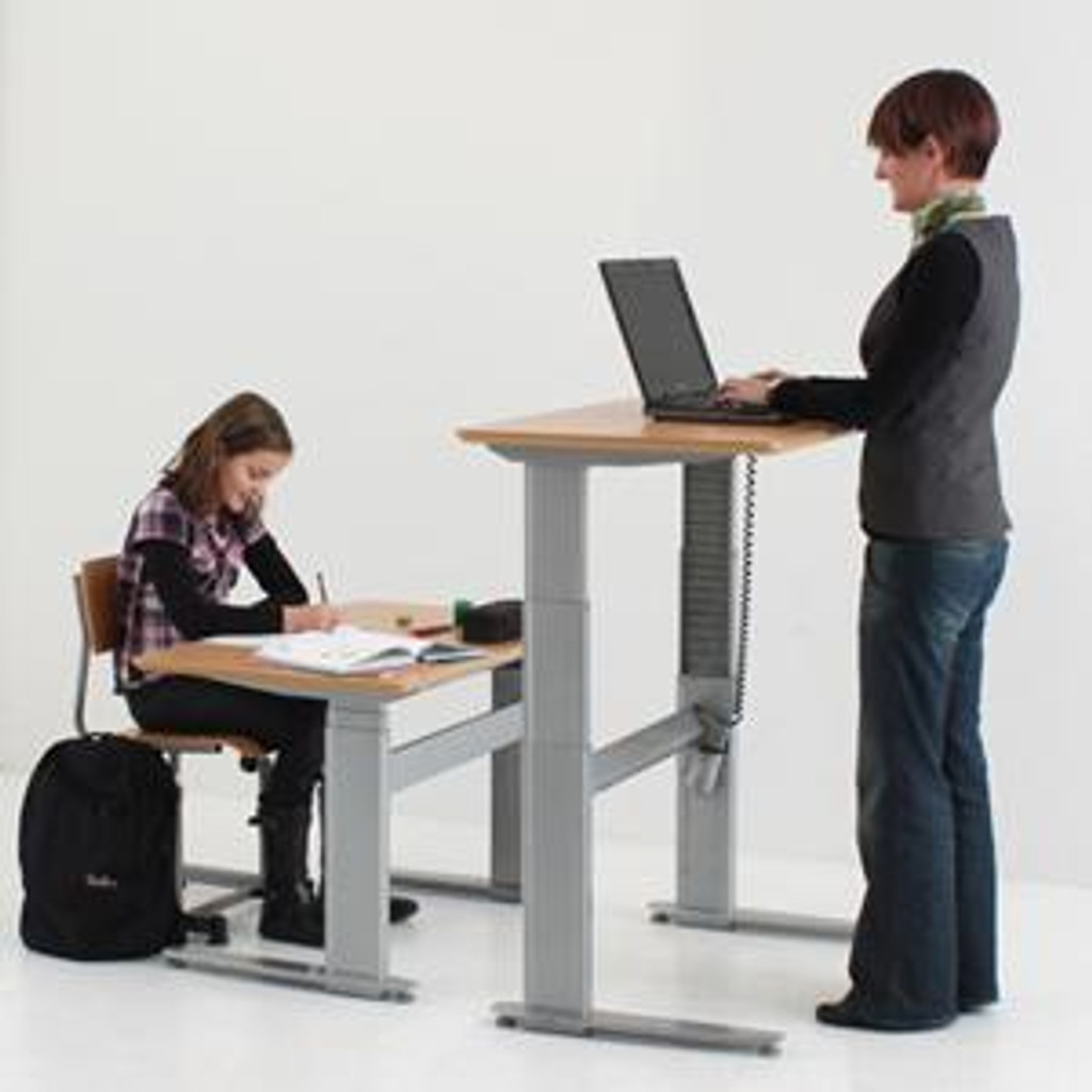 501-27 Electric Height Adjustable Rectangle Desk, Sit and Stand Positions