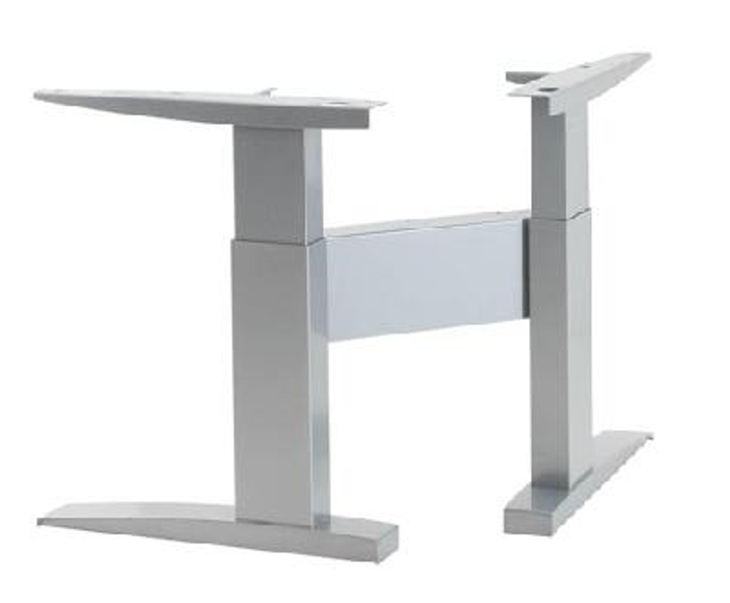 Electric Height Adjustable Corner Frame Silver