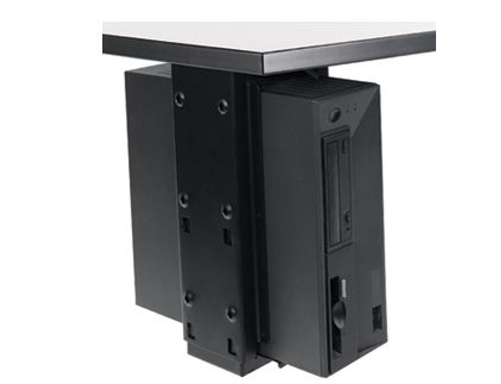 Under Desk CPU Holder with Slide and Swivel