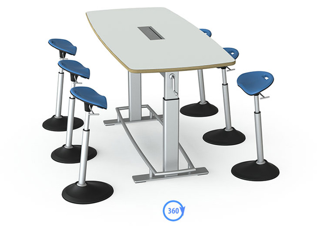 Confluence 6 Standing Height Conference Table (FBT-1000)