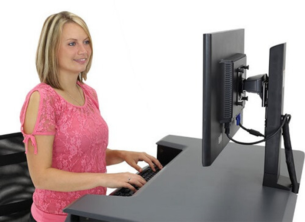 WorkFit-T/TL Sit-Stand Desktop Workstation back view