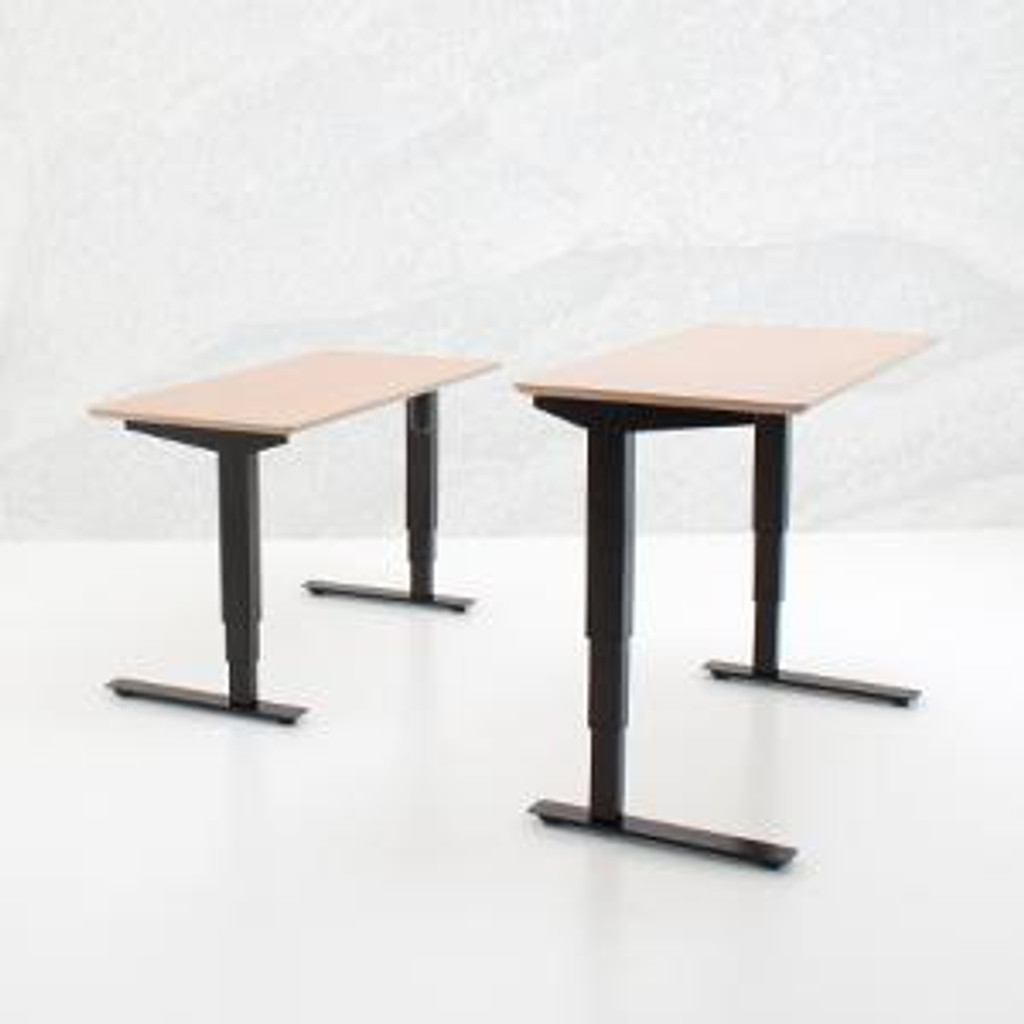 501-37 Electric Height Adjustable 2-Leg Desk Black