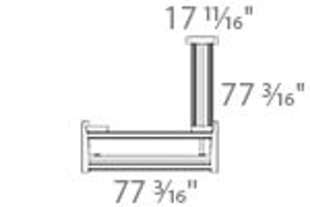 501-11 Electric Height Adjustable 3-Leg Frame Measurements