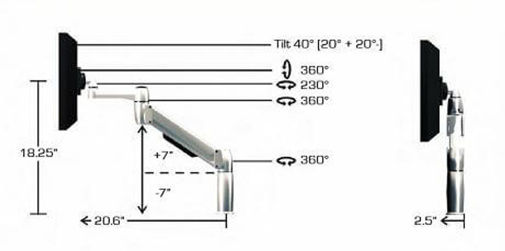 SpaceArm-Single Monitor Arm (SA01)