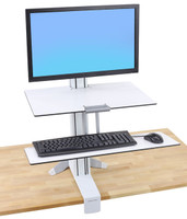 WorkFit-S, Single LD with Worksurface+ (white) (33-350-211)