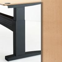 501-11 Electric Height Adjustable 2-Leg Black Frame Beech Top