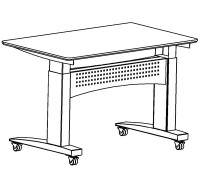 Caster set for ConSet Desks 501-11