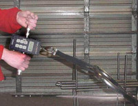 Hoggan Scientific ergoFET500 push pull force gauge in use