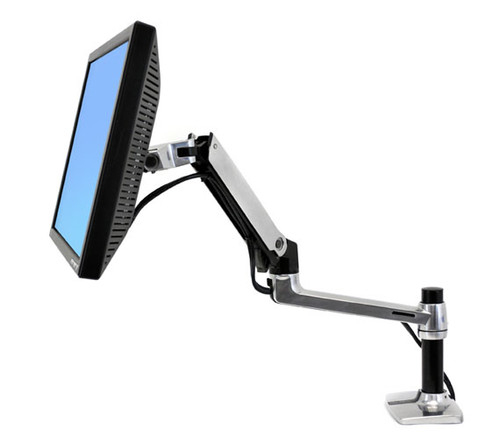 "LX Desk Mount LCD Arm, 7"" Pole"