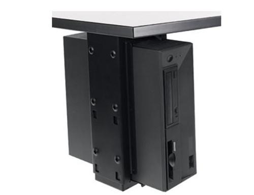 Populas Furniture Under Desk CPU Holder with Slide and Swivel