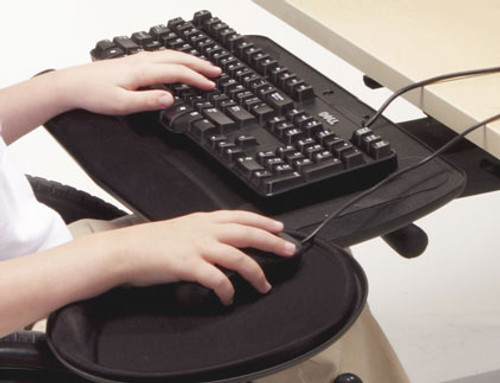 Fully Articulating Keyboard Arm with Keyboard Tray and Mouse Platform